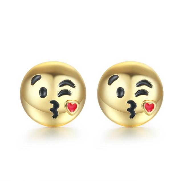Gold Tone Emoji Earrings - Choose Style