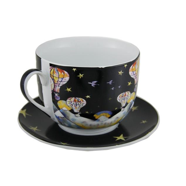 Allen Designs Hot Air Balloon Ceramic Coffee Coffee Cups
