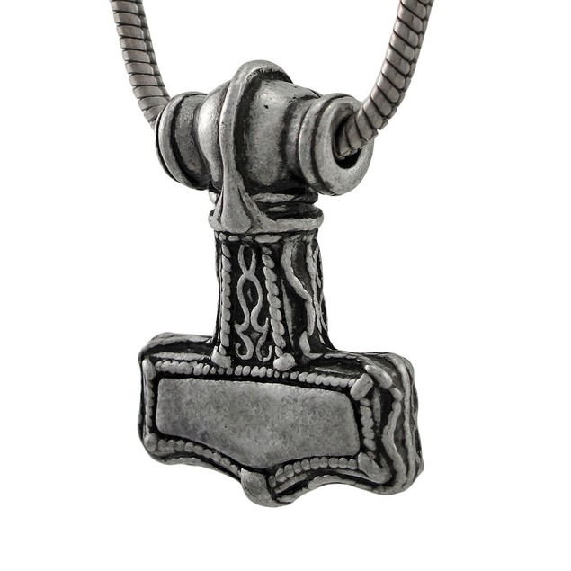 Alchemy Gothic Thor`S Bindrune Hammer Pewter Womens Pendant Necklaces