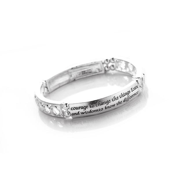 Serenity Prayer Engraved Bracelet