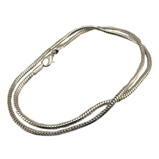 Chrome Plated 18 Inch Snake Link Necklace Chain Mens Chain Necklaces
