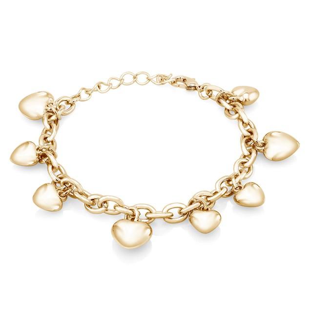 Puff Heart Charm Bracelet - 3 Colors