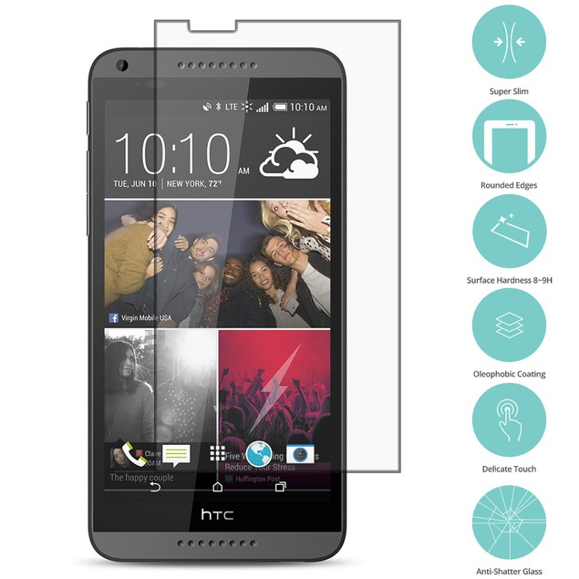 HTC Desire 816 Tempered Glass Film Screen Protector Clear