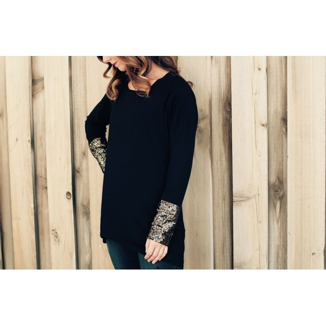 Glam Sequined Long Sleeve Shirt - 3 Colors