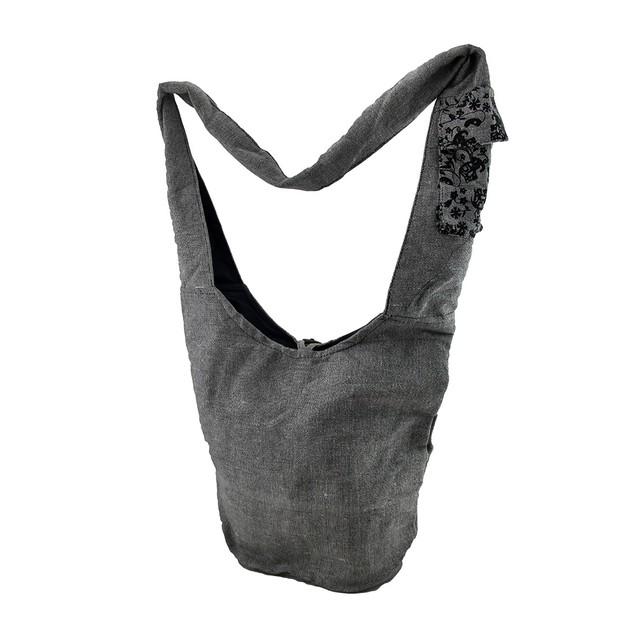 Henna Gray Elephant Crossbody Bag