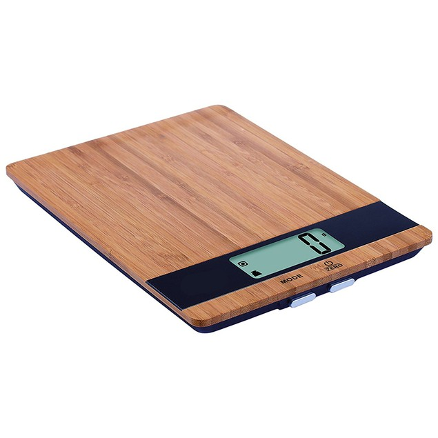 Digital Bamboo Kitchen Scale - Weighs Up to 11 Pounds