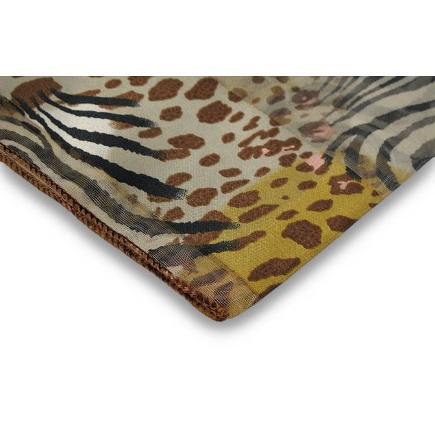 Multicolor Animal Print Scarf 13 Inches X 60 Inches Pink Accents