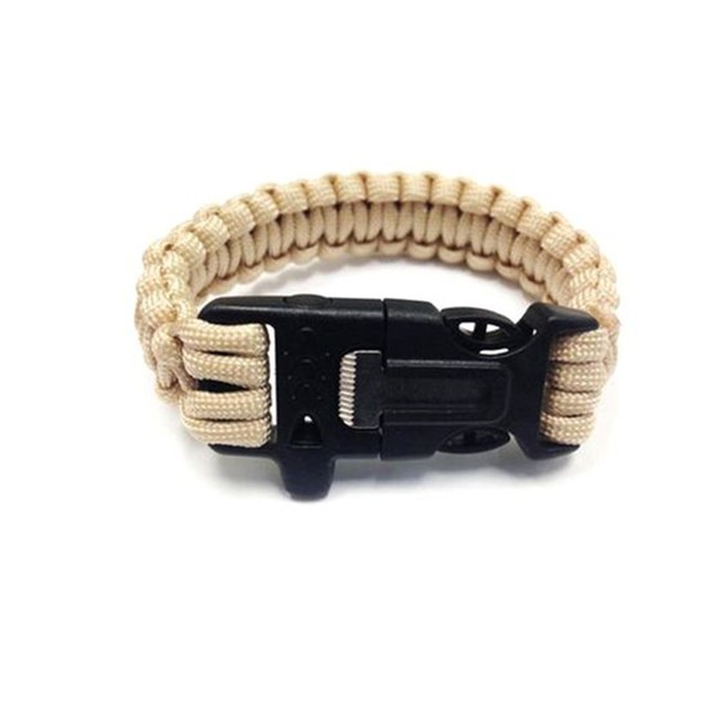 Paracord Survival Bracelet w/ Flint Scraper and Cutting Tool