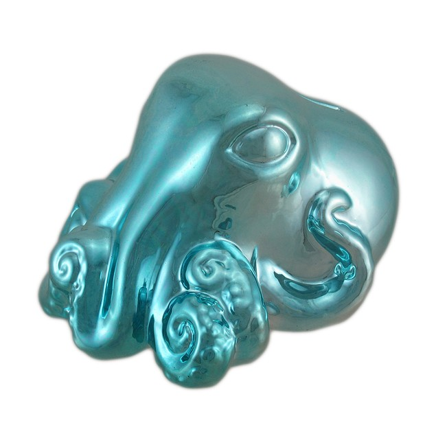 Metallic Blue Octopus Coin Bank Toy Banks