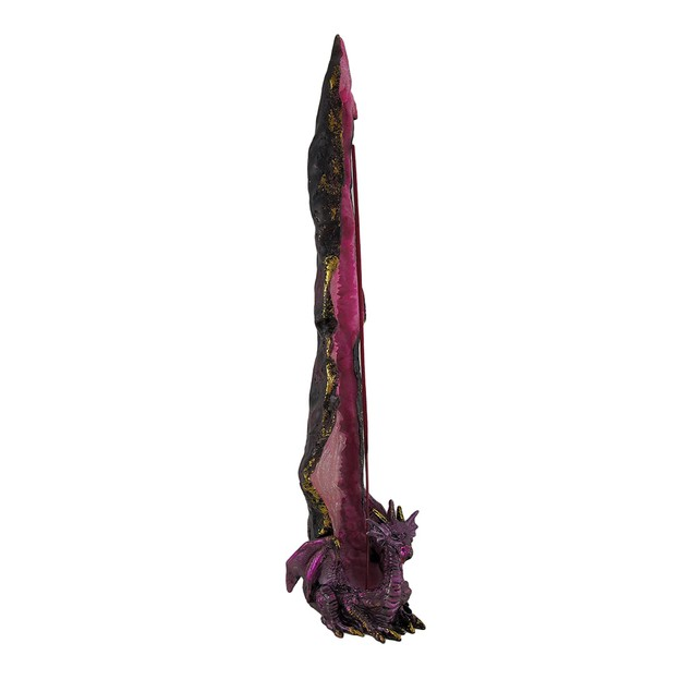 Metallic Purple Crystal Dragon Standing Incense Incense Holders