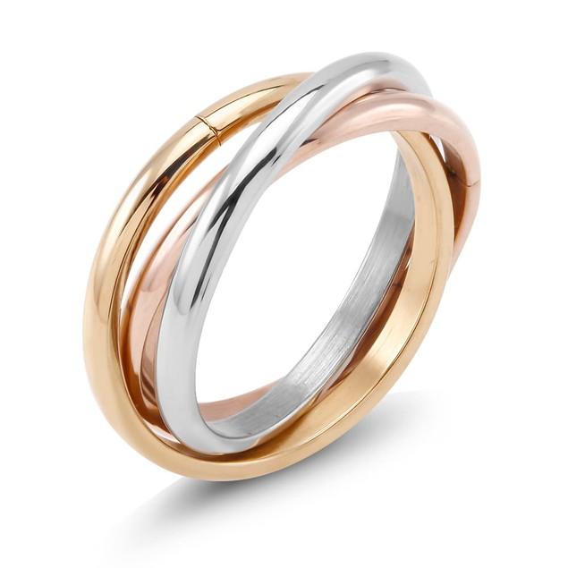Designer Inspired Tri-Color Rolling Ring