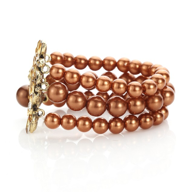 Queen Jewels Chest Faux Freshwater Pearl Bracelet