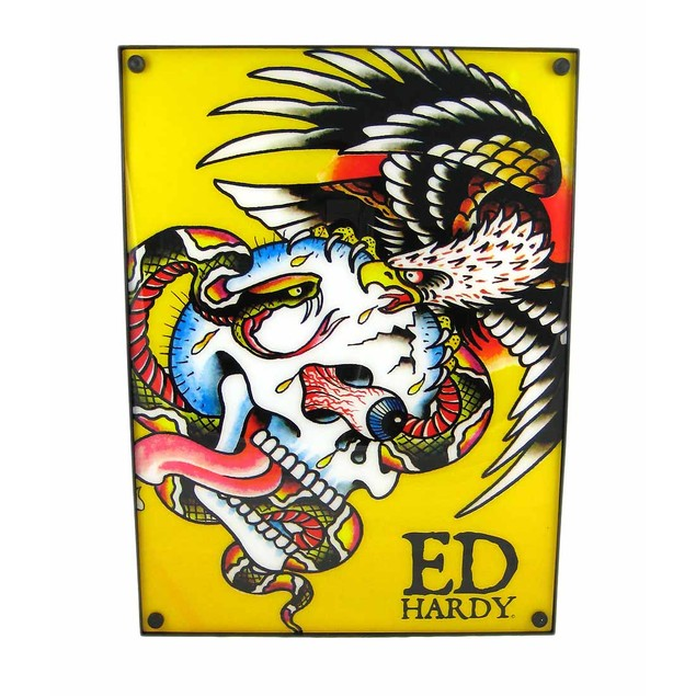 Licensed Ed Hardy `Battle` Light Box Dorm Decor Accent Lamps