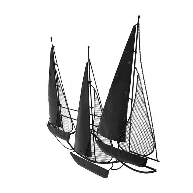 Three Hands Metal Sail Boat Wall Sculpture Wall Sculptures