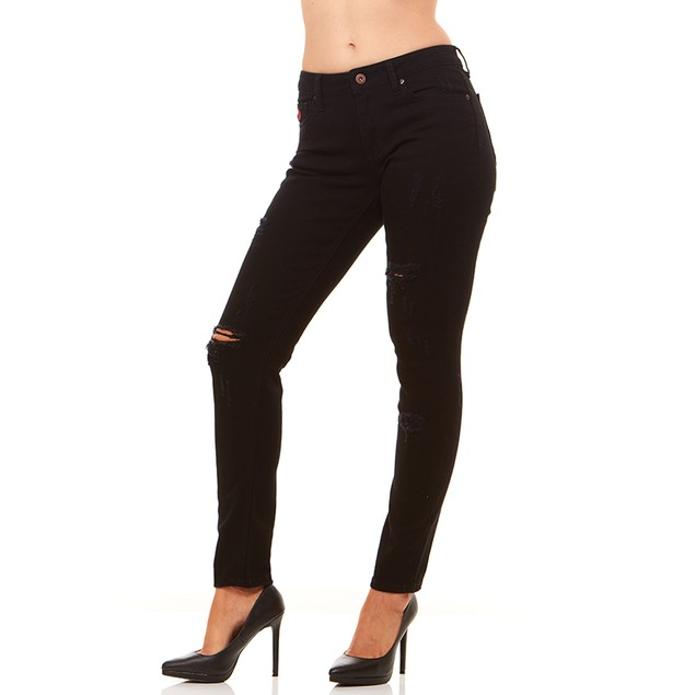 Red Jeans Women's Classic Destroyed Denim Jeans - Multiple Colors