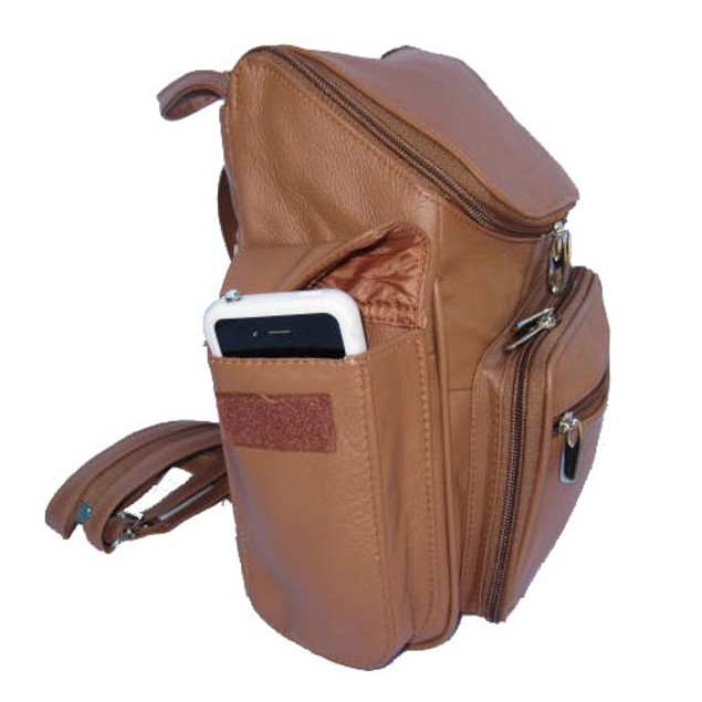Afonie Unisex Soft Genuine Leather Backpack