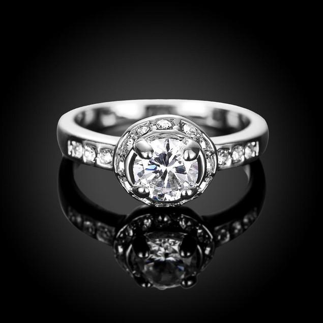 Micro-Insert Ring White Gold