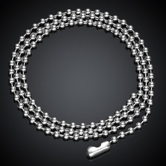Beaded Stainless Stainless Steel Chain 24 inches