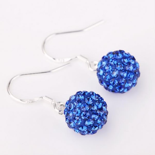 Vivid Royal Austrian Crystal Drop Earrings