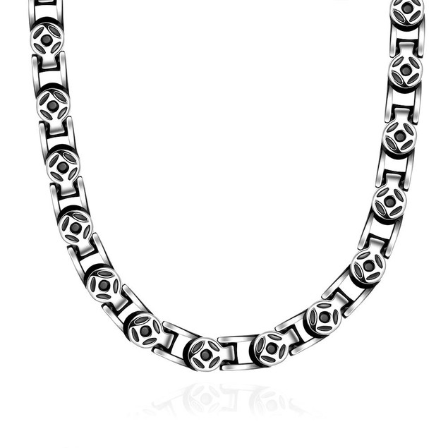 Alpha Steel Thick Cut Celtic Inspired Stainless Steel Necklace
