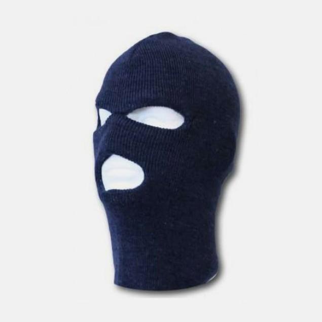 2pk Unisex Winter Knit 3 Hole Ski Mask in 5 Colors
