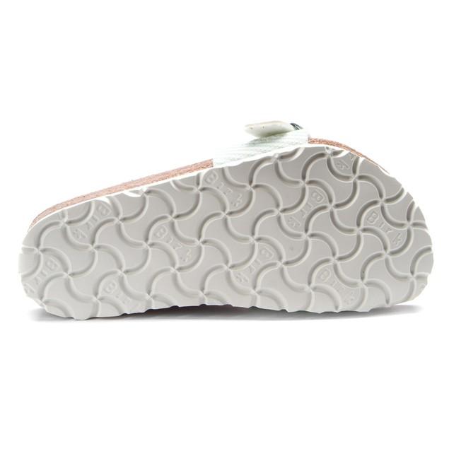 Girls' Birki's Menorca Narvic Stripes Soft Mint Sandal