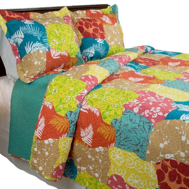 Lavish Home 3 Piece Regan Quilt Set
