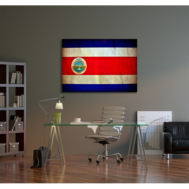 Vintage Costa Rica Flag Canvas Print
