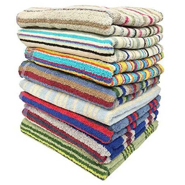 """3-Pack 28"""" x 57"""" 100% Cotton Bath Towels - Assorted"""