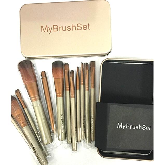 12 Piece Bare Bronze Brush Set