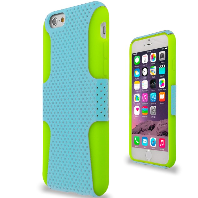 Apple iPhone 6 (4.7) Hybrid Mesh Hard Soft Silicone Case Cover