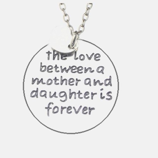 The Love Between a Mother and Daughter Pendant