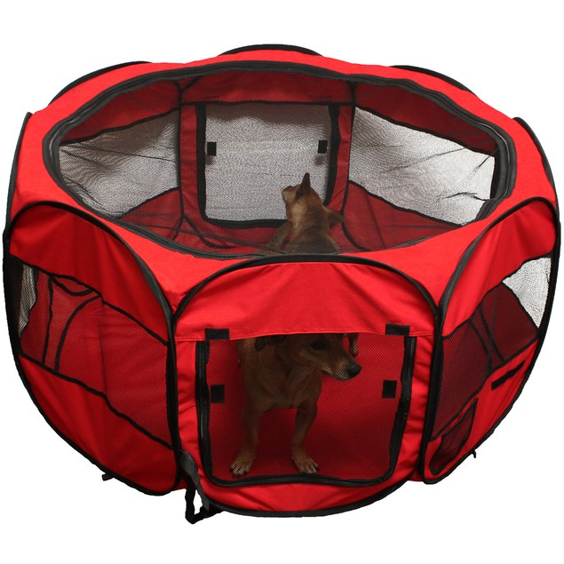 OxGord Pet Playpen with Pop up Mesh Kennel Fence