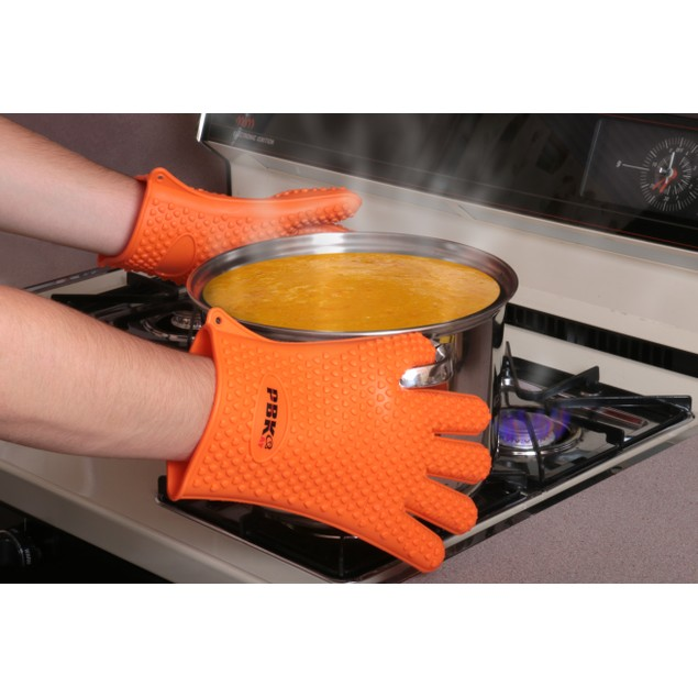 Heat Resistant Silicone BBQ Gloves Oven Mitts