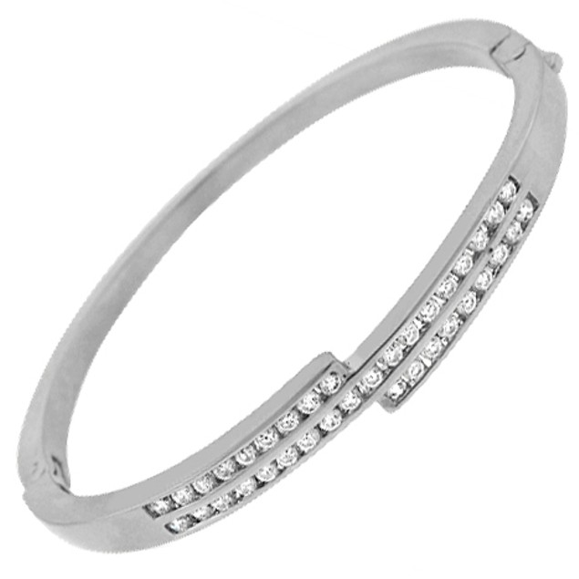 Gold-Plated Cubic Zirconia Bangle - Assorted Styles