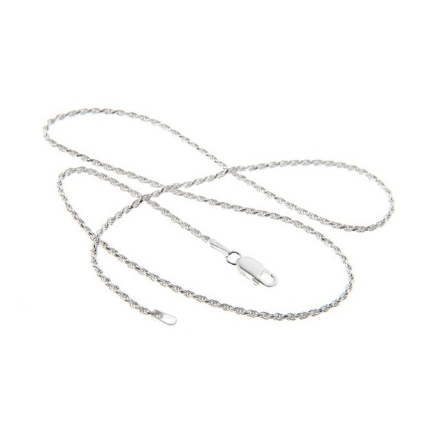 "Sterling Silver Italian Rope Chain, 16""-30"""