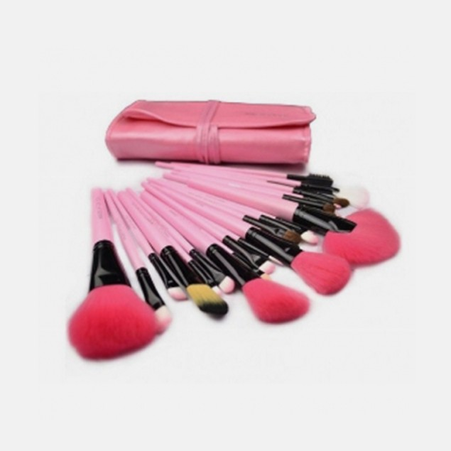 24 Piece Set of Professional Cosmetic Brushes