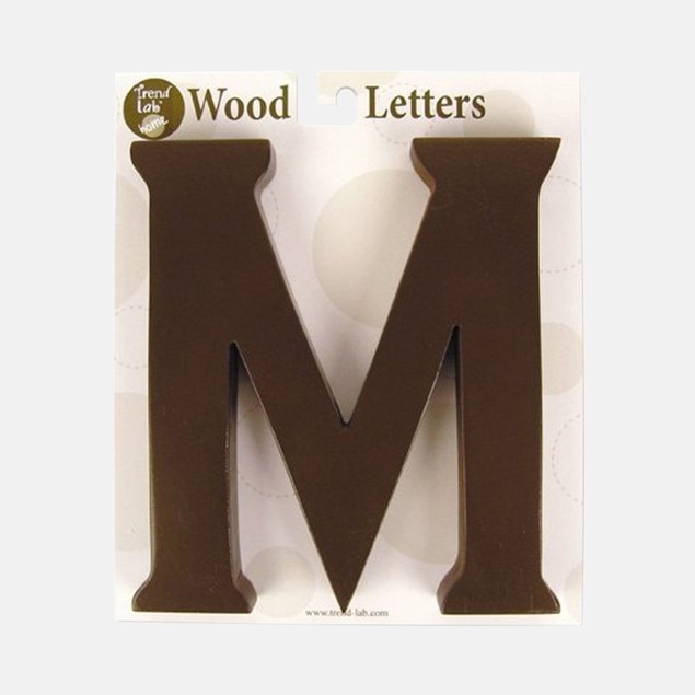 "Trend Lab Brown 6"" Tall Letter ""M"""