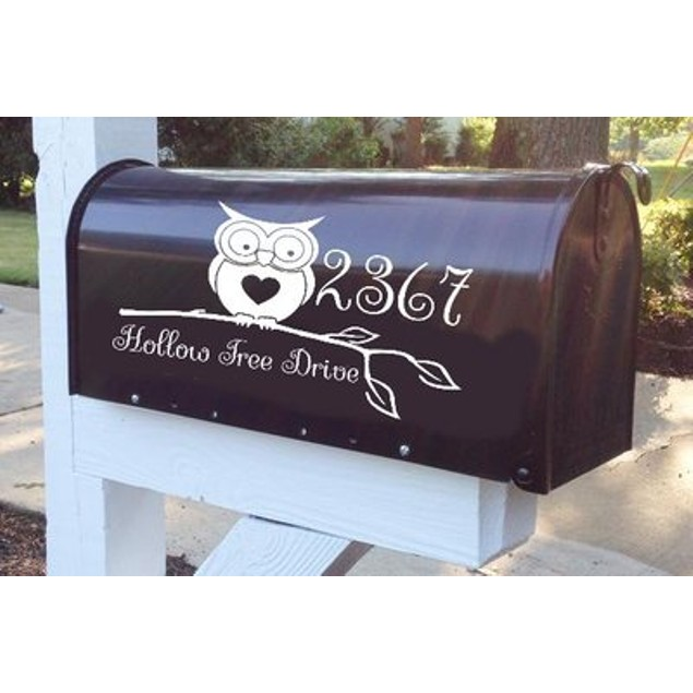 Owl Love Vinyl Address Decal