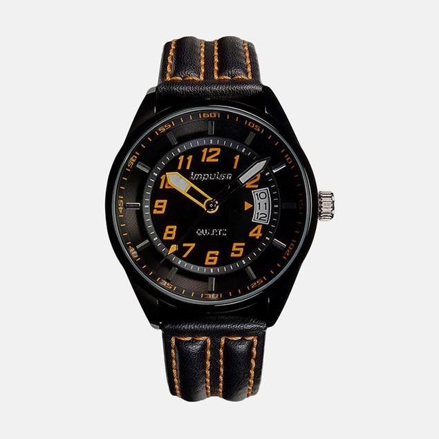 Impulse Mens Racing Stripe Quartz Black/Orange