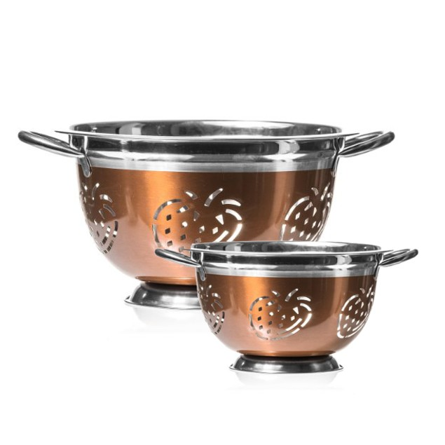 2 Piece Set: Imperial Home Stainless Steel Colanders