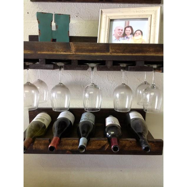 Set of 3 Rustic Luxe Tiered Wine Rack