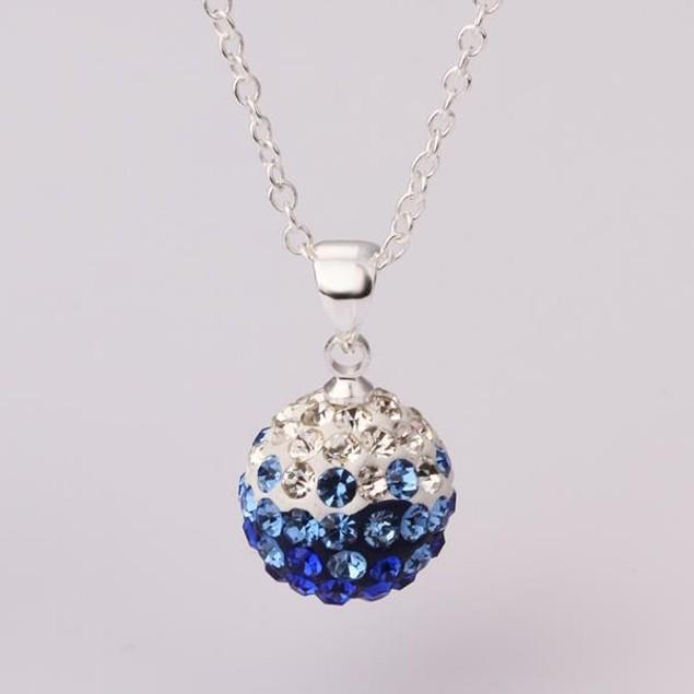 Multi-Toned Austrian Stone Necklace - Blue