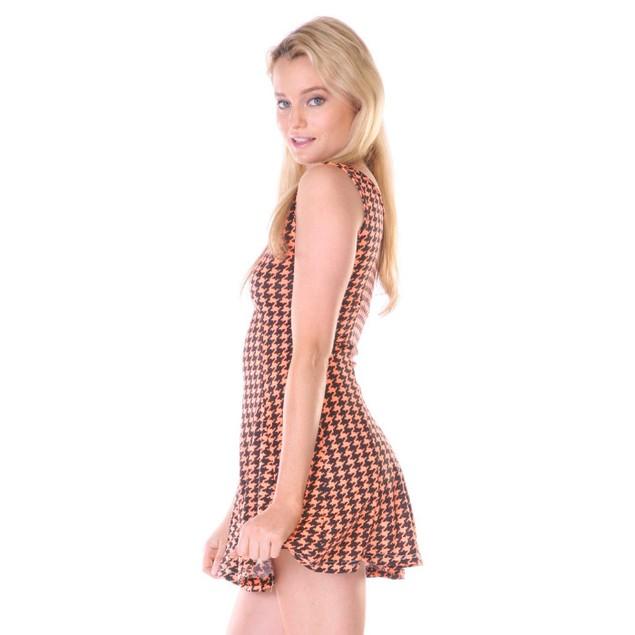 Stanzino Women's Sleeveless Orange A line Dress