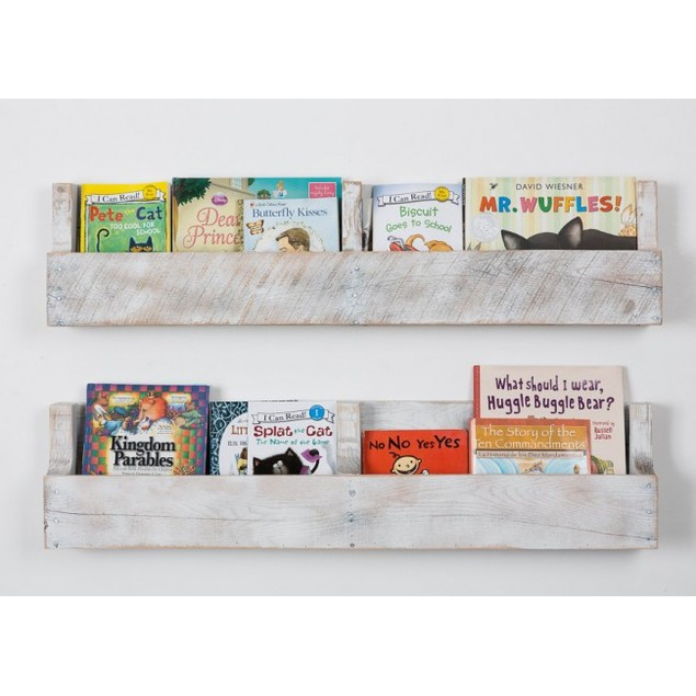 Set of 2 Reclaimed Pallet Shelves - 3 Color Options