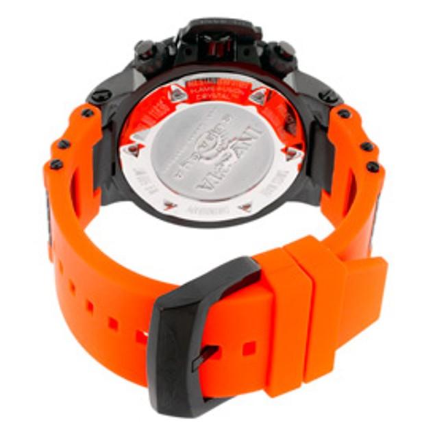Invicta Men's Subaqua Noma III Chronograph Orange Dial Orange Polyurethane