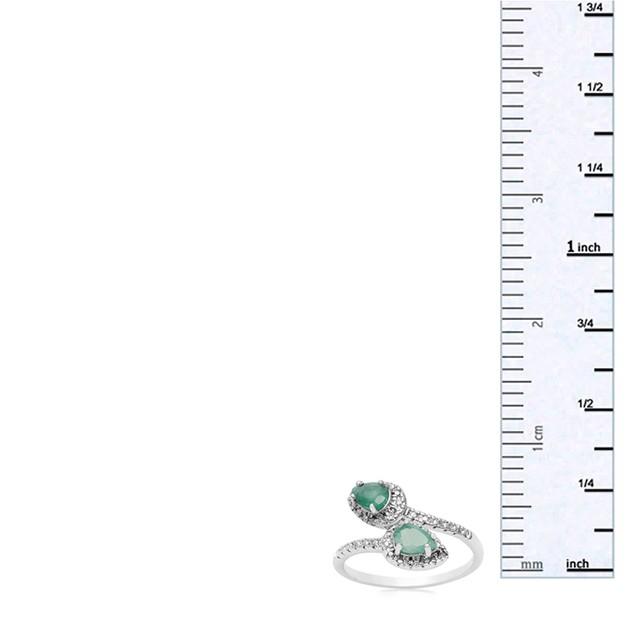 Emerald and Diamond Wrap Ring