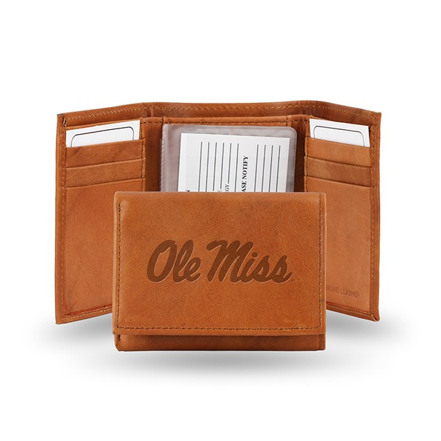 Mississippi (ole miss) Leather Manmade Trifold