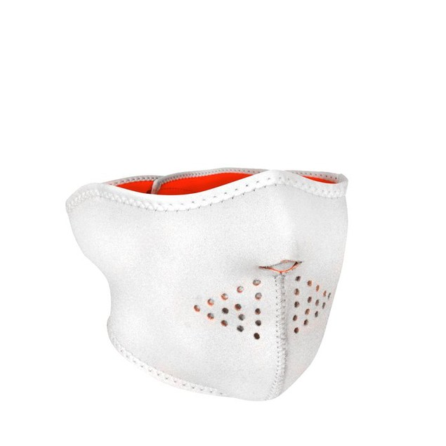 Neoprene 1/2 Mask -White Reversible to High Orange