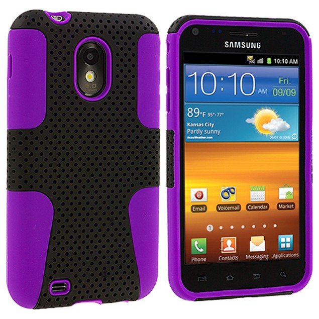 Samsung Epic Touch 4G D710 Hybrid Mesh Hard Soft Silicone Case Cover